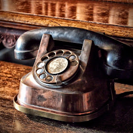 Antique Call by Glyn Owen - Products & Objects Technology Objects ( telephone chirk castle antique hdr processing editing natural colours bakolite brass copper castle )