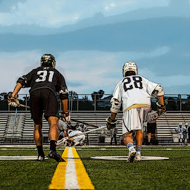 Ready to go by Kevin Mummau - Sports & Fitness Lacrosse ( position, sky, p, faceoff, shaft, lacrosse )