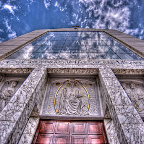 Houston/Galveston Catholic Co-Cathedral by Don Chamblee - Buildings & Architecture Other Exteriors ( religion, clouds, catholic, architecture )