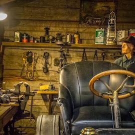 Old car repair shop ... by Sakari Partio - Buildings & Architecture Public & Historical