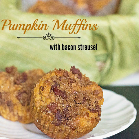 Pumpkin Muffins with Bacon Streusel