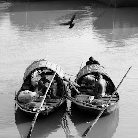 Boats by Sudipta De - Novices Only Landscapes