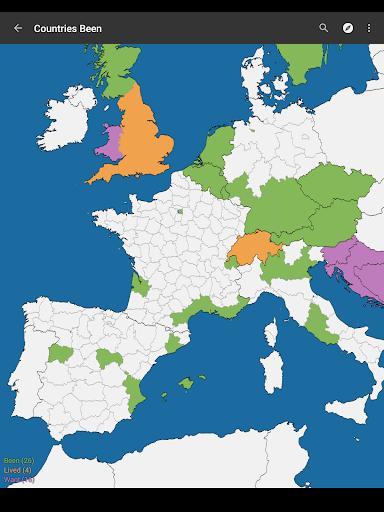 Countries Been - screenshot