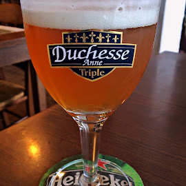 Duchesse Anne's Beer by Dobrin Anca - Food & Drink Alcohol & Drinks ( beer, glass, sea, brittany, beach )