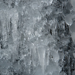 Frozen waterfall, Scotland by Ros Dando - Nature Up Close Water