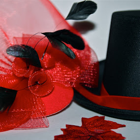 Hats by Liana Lputyan - Artistic Objects Clothing & Accessories ( red back hats )