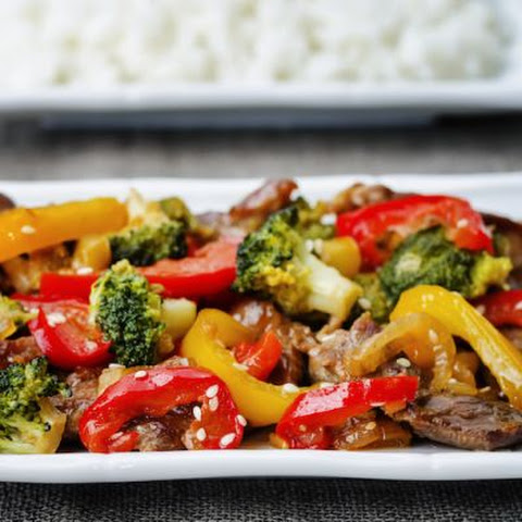 Quick & Easy Stir-Fry Beef With Broccoli & Bell Peppers