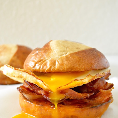 Pretzel Bun Breakfast Sandwich
