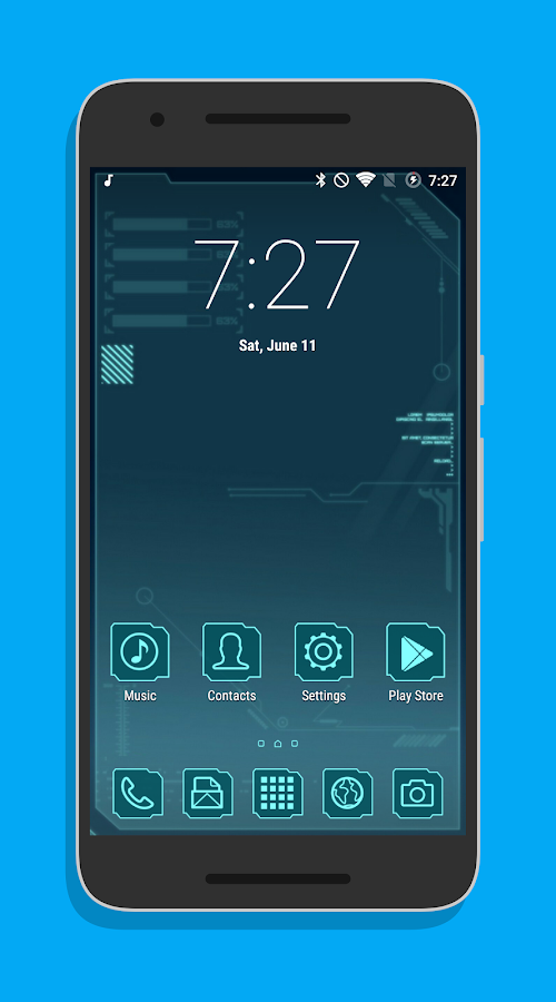Sci-Fi Theme CM12.x/13 Screenshot 0