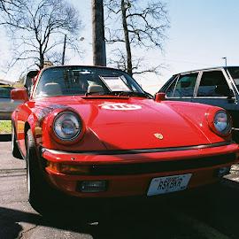 Porche 911 by Kavori Huffman - Transportation Automobiles ( film, car, motosports, red, 35mm, porche, 911 )