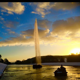 Chatsworth house  by Dexter Skipp - Landscapes Weather ( chatsworth house )