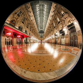 Galleria Vittorio Emanuele by Luca Libralato - Digital Art Places ( milan, galleria vittorio emanuele, milano by night, piazza duomo, duomo, milano )