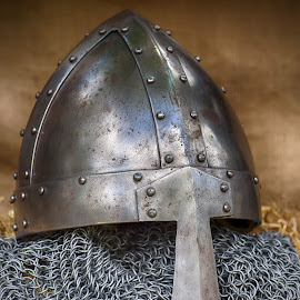 by Marco Bertamé - Artistic Objects Other Objects ( metal, helmet, medieval, knight )