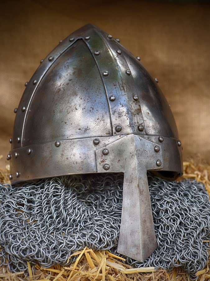 by Marco Bertamé - Artistic Objects Other Objects ( metal, helmet, medieval, knight,  )