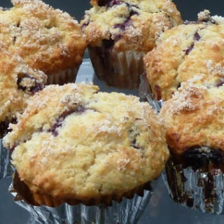 Wild Blueberry Muffins with Lemon Sugar