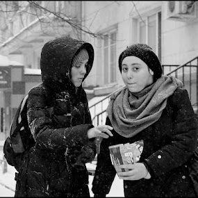 Girlfriends by Dmitry Ryzhkov - City,  Street & Park  Street Scenes