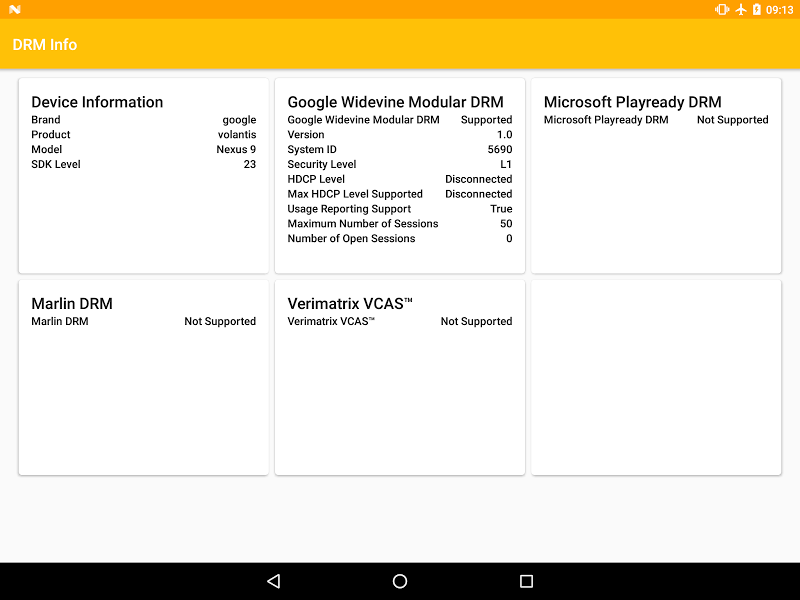 DRM Info Screenshot 5