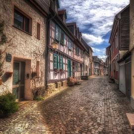 Idstein by Ole Steffensen - City,  Street & Park  Street Scenes ( idstein, cobblestones, half-timbered houses, taunus, street, germany )