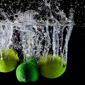 let's do it again.. by Pete G. Flores - Food & Drink Fruits & Vegetables ( fruits threesome, food vege, splash, green, three, yellow, fruits vegetables, autofocus.food, otep, lemon drops )