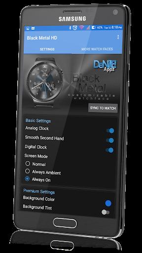 Black Metal HD Watch Face - screenshot