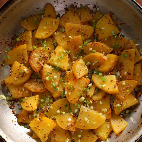 Rutabaga with Mustard and Scallions