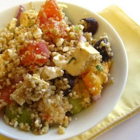 Cous Cous and Tofu Greek Salad