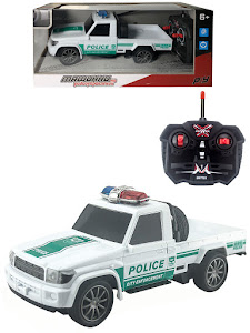 """Игрушка-радиуправляемая машинка серии """"Город Игр"""", полицейский пикап, белый"""