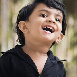 Happy by Kamal Mp - Babies & Children Child Portraits ( child, model, laugh, happy, happiest, smile, portrait, kid, girld )
