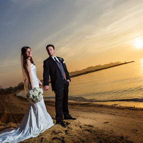 Chesapeake Bay by Steven C. Bloom - Wedding Bride & Groom