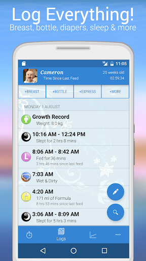 Baby Feed Timer, Breastfeeding - screenshot