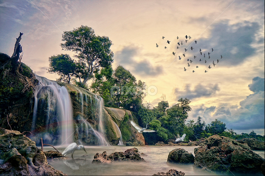 Toroan Waterfall, east java. Indonesia by Roelz Marvin Hyde - Landscapes Sunsets & Sunrises