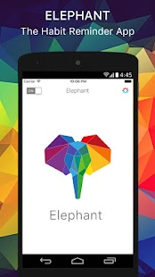 Elephant - Never Forget: Build Habits and Routines Fitness app screenshot 1 for Android