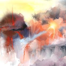 AuswirkungenGlen Sande © 2016  Original Abstract Digital Paintingcreated in Corel Painter 2016 by Glen Sande - Painting All Painting