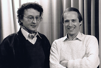 With Tristan Murail, Abey Road Studios, London, 1985