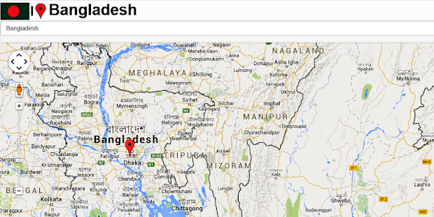Bangladesh Jessore Map - screenshot
