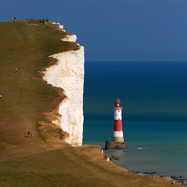 by Carlo Gulin - Landscapes Travel ( england, cliffs, nature, lighthouse,  )
