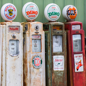 Old Time Gas Pumps by Robert George - Artistic Objects Antiques (  )