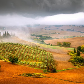 Tuscany by Ryszard Lomnicki - Landscapes Cloud Formations ( tuscany, sunset, italy,  )