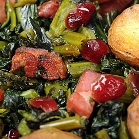 One-pan Braised Kale With Bacon And New Potatoes