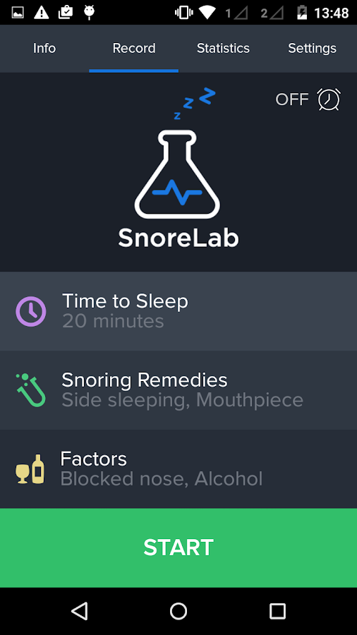 SnoreLab : Record Your Snoring Screenshot 2