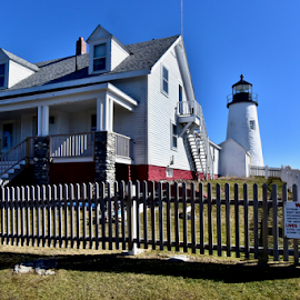 Pemaquid Lighthouse and Fishermans Museum by Joe Fazio - Buildings & Architecture Public & Historical ( maine, museum, sea coast, lobster, pemaquid, bristol maine )