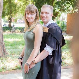 by Christopher van Heerden - People Couples ( love, light, couples, graduation )