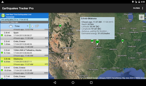 Earthquakes Tracker Pro - screenshot