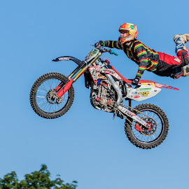Motorcross Jumping by Carl Albro - Sports & Fitness Motorsports ( jumping, motorbike, motorcross )