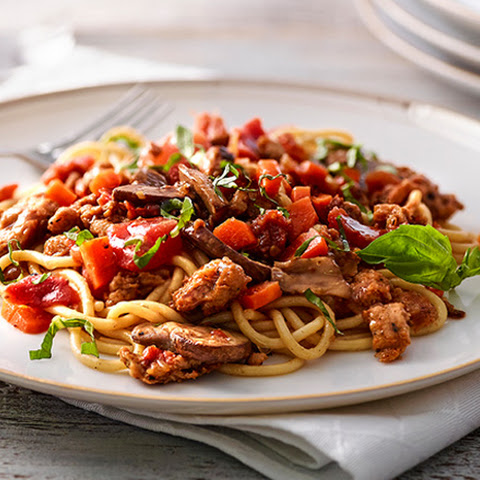 Chicken Bolognese over Pasta