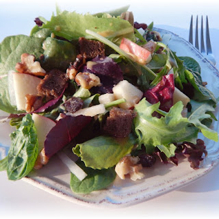 Apple Walnut Raisin Salad with Cinnamon Vinaigrette