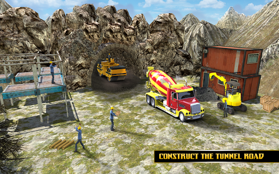 Highway Tunnel Construction & Cargo Simulator 2018 APK screenshot thumbnail 9