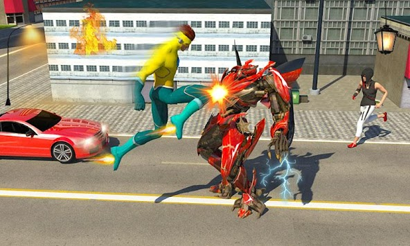 Lightning Flash Hero Speed Robot Transformation APK screenshot thumbnail 3
