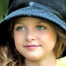 Blue Hat by Sylvester Fourroux - Babies & Children Child Portraits