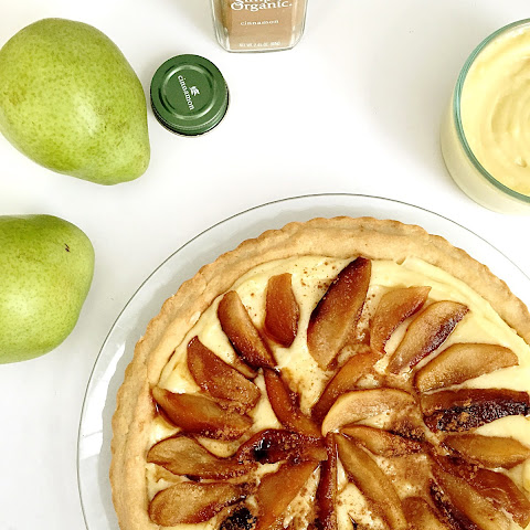 Cream Tart With Caramelized Pears